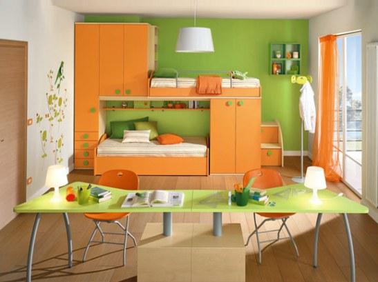 Cameretta verde mela arredissima young il mondo dei bambini - Camerette verde mela ...