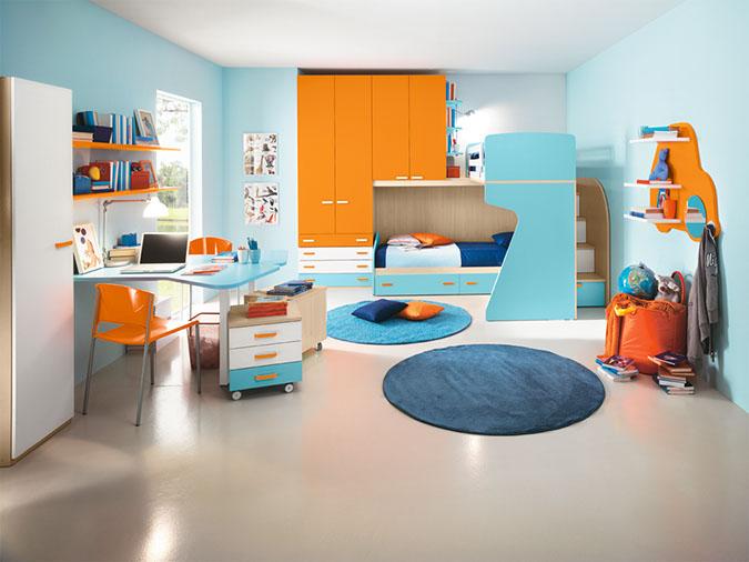 Le camerette doppie colorate di arredissima arredissima for Camerette particolari per bambini
